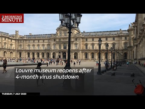 Louvre museum reopens after 4-month virus shutdown