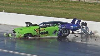Drag Racing Wrecks, Wheelies & Close Calls Compilation