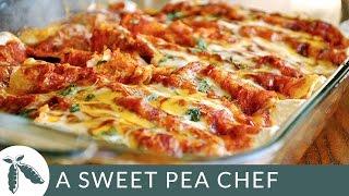 Shredded Chicken Enchiladas | A Sweet Pea Chef