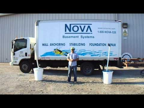 Mike from Nova Basement Systems has completed the ALS Ice Buck Challenge!  Two sump pumps were set up to shoot out water.  Truly a very unique way to complete the challenge!