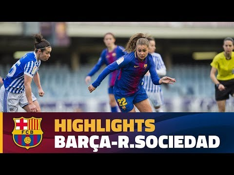 [HIGHLIGHTS] FUTBOL FEM (Liga): FC Barcelona – Real Sociedad (0-0)