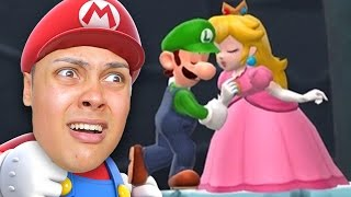 PRINCESS PEACH CHEATS ON MARIO AND KISSES LUIGI !!! - Super Mario Run