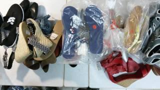 New shoes S mix - брендовая летняя обувь сток, в основном женская, 12.4кг.28пар, 16,2 евро/кг
