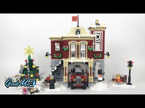Vidéo LEGO Creator 10263 : La caserne des pompiers du village d'hiver