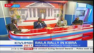 Raila Odinga holds a peace rally in Kibra