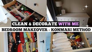 BEDROOM MAKEOVER IKEA HEMNES | CLEAN & DECORATE WITH ME KONMARI METHOD