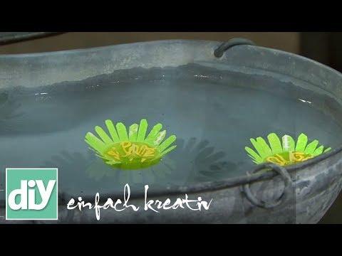 Schwimmkerzen selber machen  | DIY einfach kreativ
