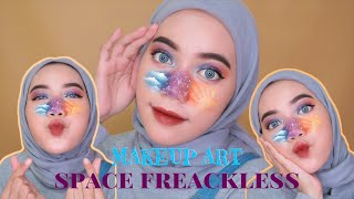 MAKEUP ART !!!! SPACE FREACKLESS | Lia Istiana