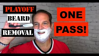 Playoff Beard Removal with One Pass!