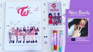 Decorar cuadernos KPOP TWICE