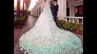 MOST BEAUTIFUL WEDDING DRESSES | MERMAID | SEE THROUGH | COLOR | RUFFLED