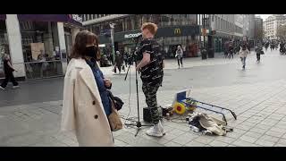 Ed Sheeran - Happier - Busking cover by Ginger Jamie