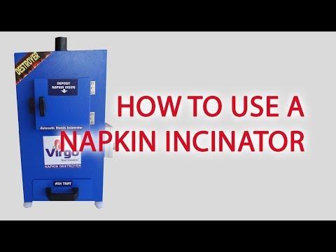 Napkin Incinerator Machine Atom for Home Use