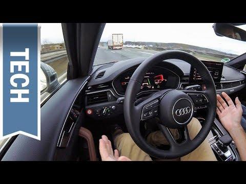 Assistenzpaket Tour im Audi A4 im Test: Teilautonomes Fahren, Tempolimitübernahme, ACC & Lane Assist