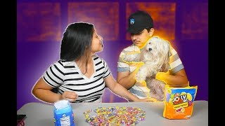The Candy Kissing Challenge Ft. My Dog