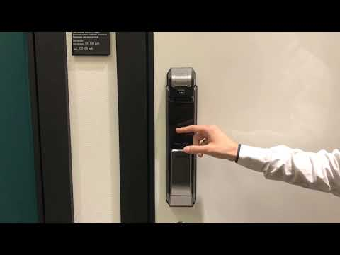 Как поменять пароль и отпечаток пальца | двери Electra| блок управления Samsung SHS-P718