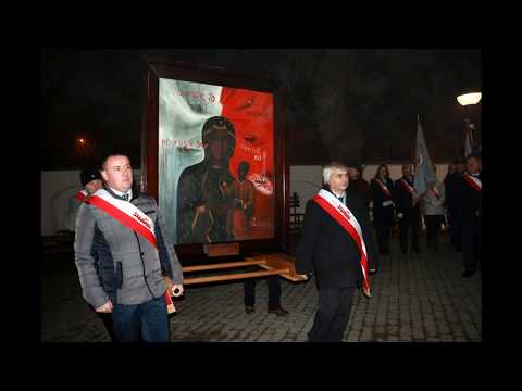 """Powitanie Obrazu Matki Bożej Robotników """"Solidarności"""" w Łańcucie 16.01.2020"""