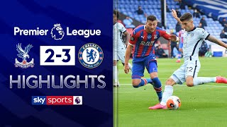 SUBSCRIBE ► http://bit.ly/SSFootballSub PREMIER LEAGUE HIGHLIGHTS ► http://bit.ly/SkySportsPLHighlights Highlights from the Premier League, as Chelsea edged out Crystal Palace in a five-goal thriller.   Watch Premier League LIVE on Sky Sports here ► http://bit.ly/WatchSkyPL ►TWITTER: https://twitter.com/skysportsfootball ►FACEBOOK: http://www.facebook.com/skysports ►WEBSITE: http://www.skysports.com/football  MORE FROM SKY SPORTS ON YOUTUBE: ►SKY SPORTS CRICKET: https://bit.ly/SubscribeSkyCricket ►SKY SPORTS BOXING: http://bit.ly/SSBoxingSub ►SOCCER AM: http://bit.ly/SoccerAMSub ►SKY SPORTS F1: http://bit.ly/SubscribeSkyF1