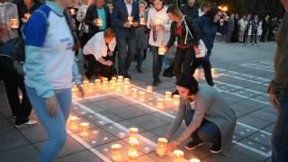 """Акция """"Свеча памяти"""" в Йошкар-Оле. 21 июня 2017."""