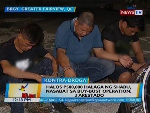 BT: Halos P500,000 halaga ng shabu, nasabat sa buy-bust operation; 3 arestado