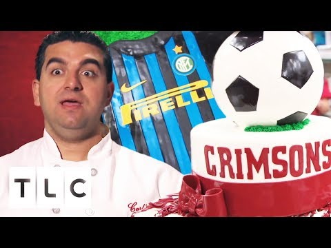 Buddy Knocks It Out The Park With These Life Sized Sport Cakes! | Cake Boss