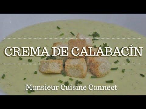 CREMA DE CALABACIN en Monsieur Cuisine Connect   Receta guiada paso a paso