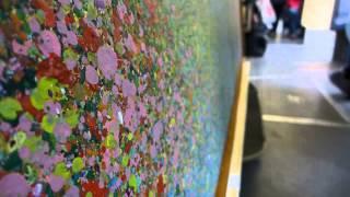 Video, David Komander, Intervention Cologne Rheinauhafen opening 2014, paintings 150x180cm