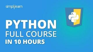Python Tutorial | Python Tutorial For Beginners - Full Course | Python Programming | Simplilearn