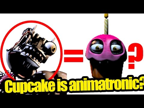 Cupcake's endoskeleton found? it is an animatronic? five nights at freddy's 2 theory.