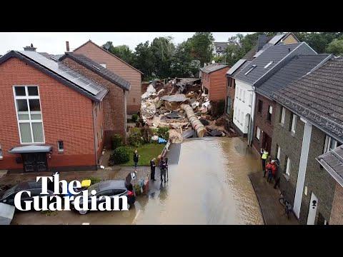Τα drone δείχνουν το μέγεθος της καταστροφής στη Γερμανία μετά τις θανατηφόρες πλημμύρες