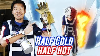Building Shoto's Half-Cold Half-Hot Quirk in Real Life | My Hero Academia Month!!!