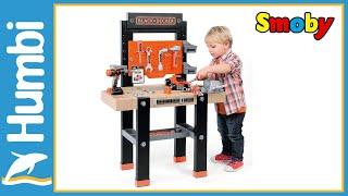 Vaikiškas darbastalis 92 priedai | Black & Decker | Smoby 360701