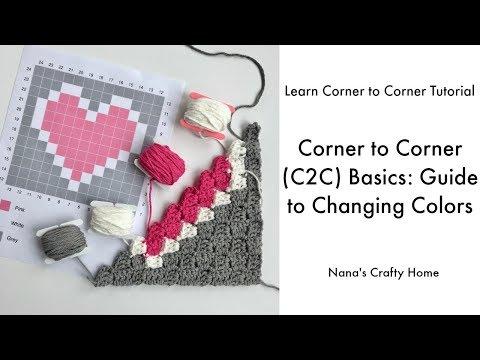 Mini Corner to Corner C2C Crochet - смотреть онлайн на Hah Life