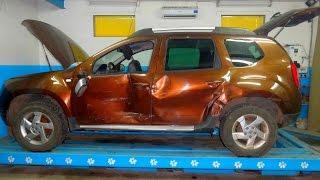 Renault Duster. повреждения. обзор авто.