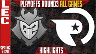 G2 vs OG Highlights ALL GAMES | LEC Spring 2020 Playoffs Round 3 | G2 Esports vs Origen