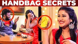 Alya Manasa's GLAMOROUS HANDBAG Secrets   What's Inside the HANDBAG