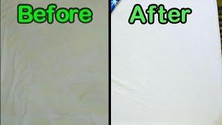 100% வெள்ளை நிற மெத்தை,போர்வையின் கரையை நீக்கும் தந்திரம் | DIRTY WHITE Stain Mattress To PURE WHITE