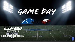 Greenbrier Panther Football vs Huntsville