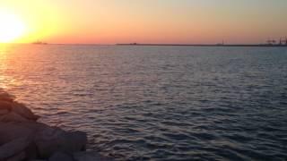 """Рассвет на пляже """"Березка"""" в Махачкале. Удивительные красоты..."""