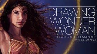 Drawing Wonder Woman!