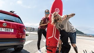 Miss Peaches on the Road: Surfing