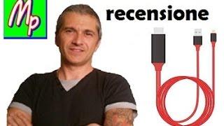 RecensionecavoadattatoreHDMiLenuo2mMHLmicroUSBaHDMI1080pHDTVTV