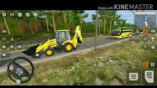 Download Real v1 JCB Backhoe Loader Mod by Gamer Chunkz for Bus Simulator Indonesia || Bussid v3.3.4