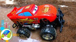 Racing Car, Crane Truck Toys - Help Excavator Broken Engine (Compilation) - Kid Studio