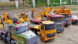 Car Toy with Excavator, Dump Truck Construction Vehicles Toys Play