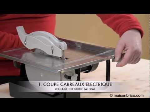 Couper du carrelage à la machine - © Maisonbrico.com