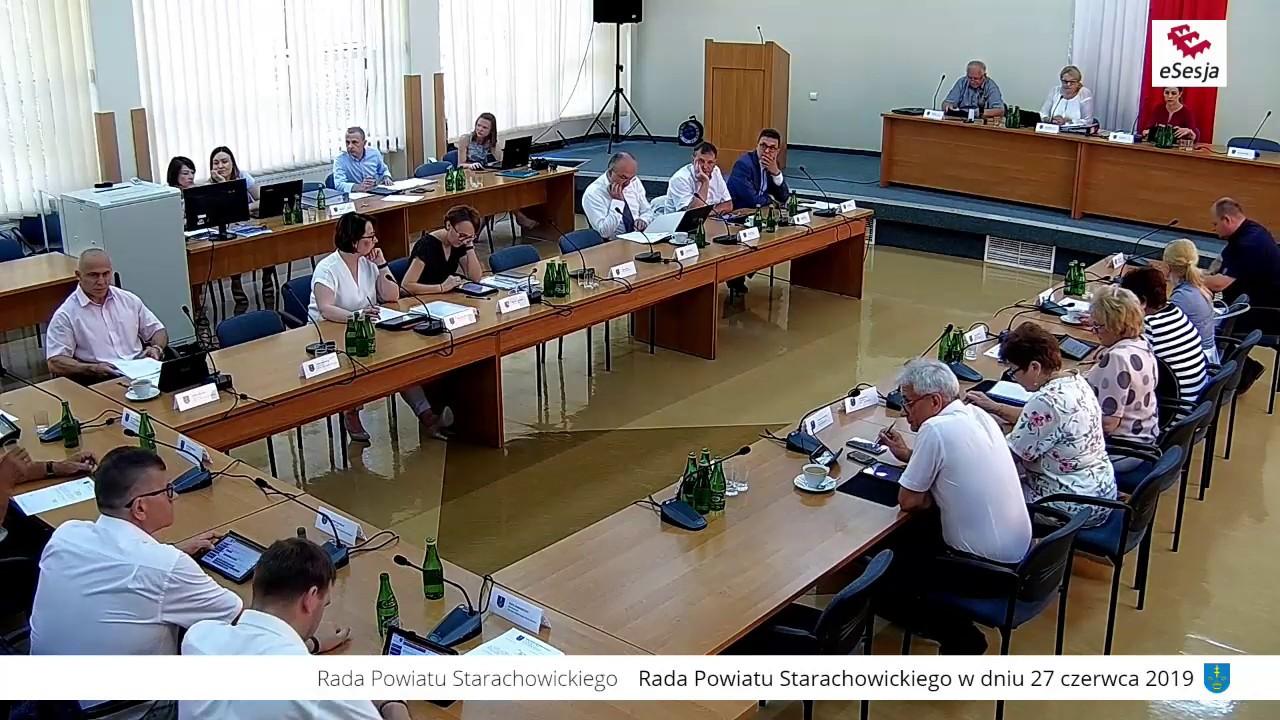X Sesja Rady Powiatu w Starachowicach 27.06.2019r.