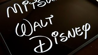 Uni POSCA Calligraphy Lettering Walt Disney Font