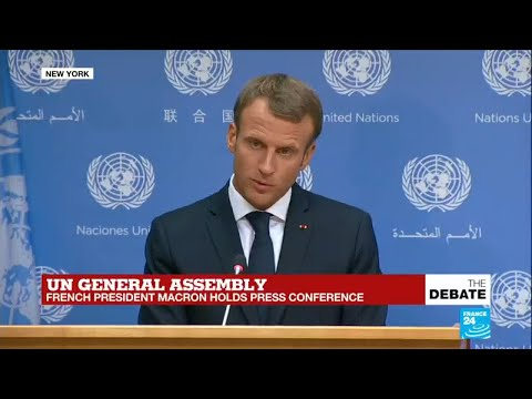 UN General Assembly: French president Emmanuel Macron holds press conference