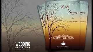 How To Design Wedding Invitation Card   Illustrator Tutorial